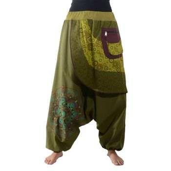 Colorful Ibiza Style Harem Pants Cotton Pants - Goa Wellness Pants – Bild 10