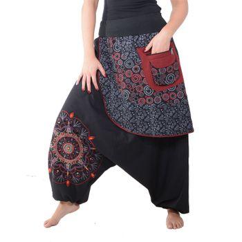 Kunst und Magie Bunte Ibiza Style Haremshose aus Baumwolle Goa Wellnesshose – Bild 11