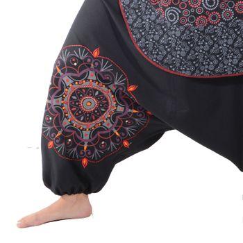 Kunst und Magie Bunte Ibiza Style Haremshose aus Baumwolle Goa Wellnesshose – Bild 14
