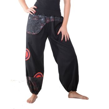 Colorful Hippie Cotton Pants - Ibiza Beach Wellness Pants – Bild 1