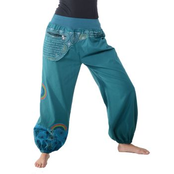 Colorful Hippie Cotton Pants - Ibiza Beach Wellness Pants – Bild 11