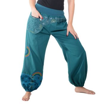 Colorful Hippie Cotton Pants - Ibiza Beach Wellness Pants – Bild 12