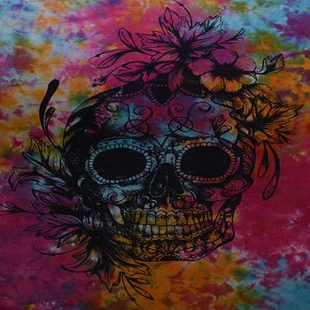 Kunst und Magie Wall curtain with Scull La Catrina – Bild 2