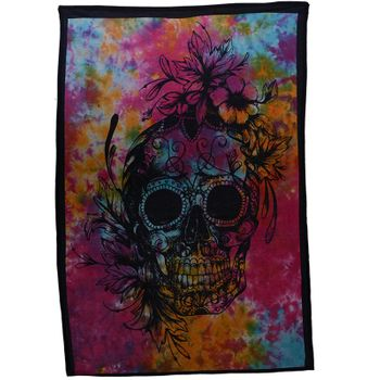 Kunst und Magie Wall curtain with Scull La Catrina