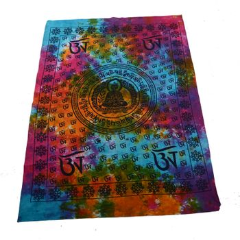 Kunst und Magie Wall hanging with buddha - om motif 100 % cotton approx. 44 x 30 inch – Bild 1