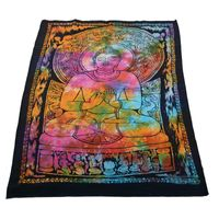 Kunst und Magie Wall hanging with buddha motive 100 % cotton approx. 45 x 30 inch 001