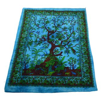 Kunst und Magie Wall hanging with The Tree of Life motive 100 % cotton approx. 45 x 30 inch – Bild 2
