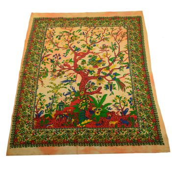 Kunst und Magie Wall hanging with The Tree of Life motive 100 % cotton approx. 45 x 30 inch – Bild 4