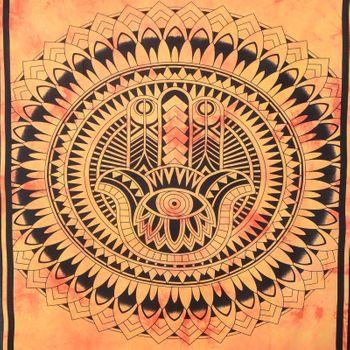 "Kunst und Magie Wandbehang ""Hand der Fatima"" Mandala Dekotuch Tagesdecke Hamsa ca. 200 x 135 cm – Bild 6"