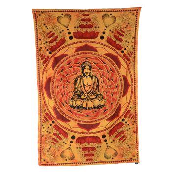 "Kunst und Magie Wandbehang ""Buddha"" Dekotuch Tagesdecke ca. 200 x 135 cm – Bild 4"