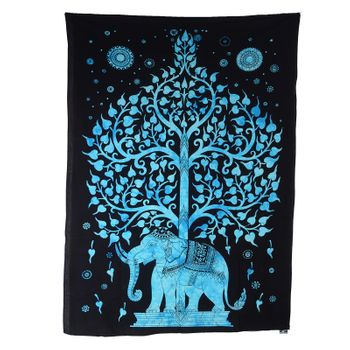 "Kunst und Magie Wall hanging ""Tree of LIfe""  100 % cotton approx. 78.5 x 53 inch – Bild 2"