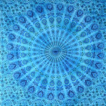 "Kunst und Magie Wandbehang ""Mandala"" Dekotuch Tagesdecke ca. 200 x 135 cm – Bild 10"