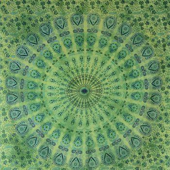 "Kunst und Magie Wandbehang ""Mandala"" Dekotuch Tagesdecke ca. 200 x 135 cm – Bild 2"