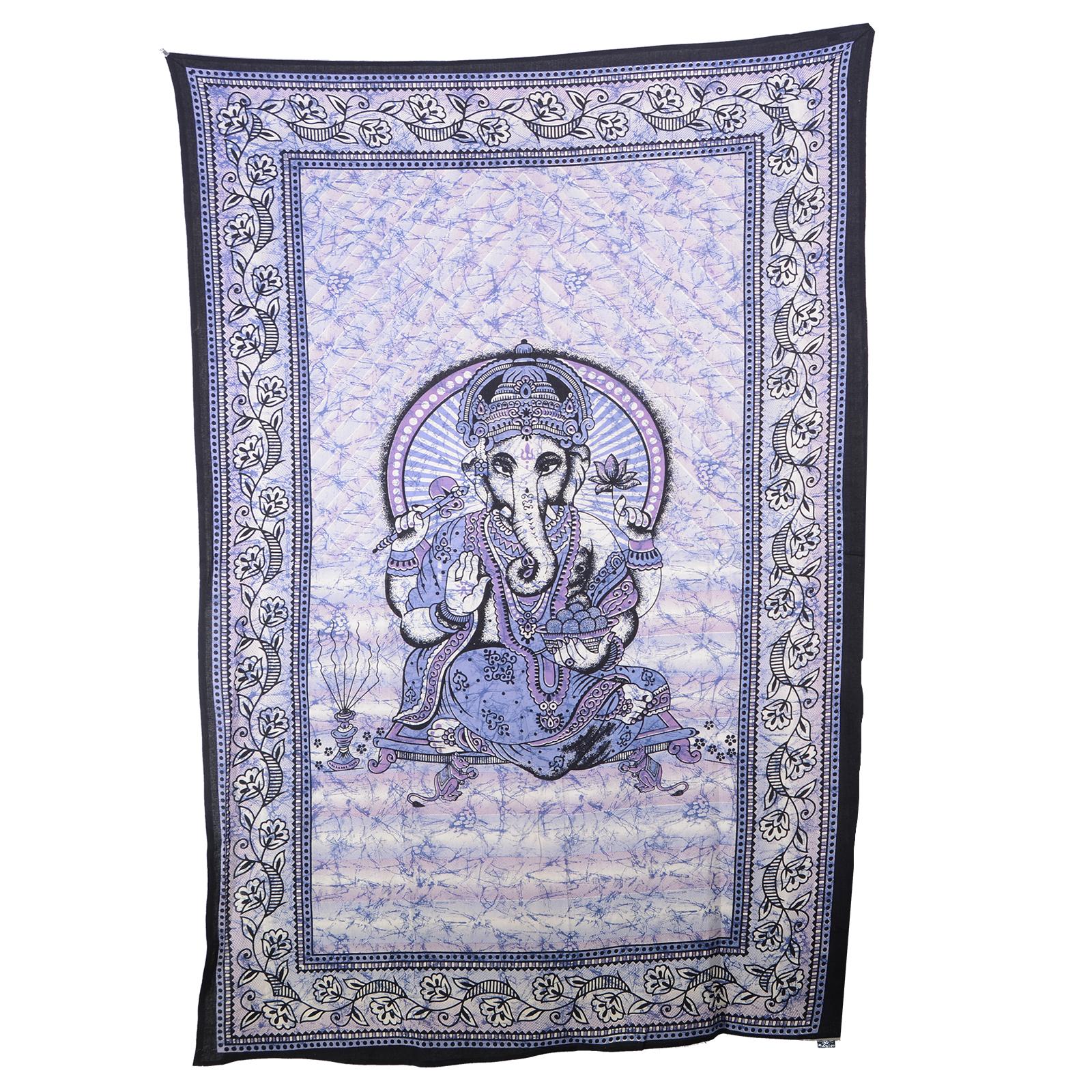 Kunst-und-Magie-Wandbehang-034-Ganesha-034-Dekotuch-Tagesdecke