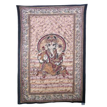 "Kunst und Magie Wandbehang ""Ganesha"" Dekotuch Tagesdecke ca. 217 x 138 cm – Bild 1"