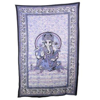 "Kunst und Magie Wandbehang ""Ganesha"" Dekotuch Tagesdecke ca. 217 x 138 cm – Bild 3"