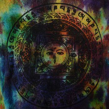 Kunst und Magie Herren Goa Buddha Eyes Strickjacke mit abnehmbarer Zipfelkapuze  – Bild 5