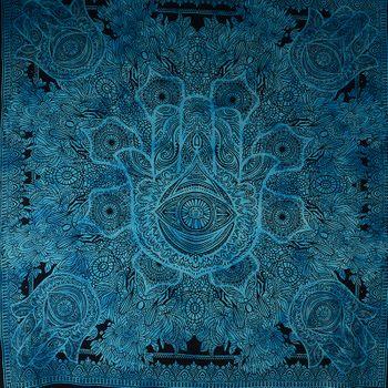 Kunst und Magie Wandbehang Hamsa Hand der Fatima ca. 230 x 200 cm  – Bild 5