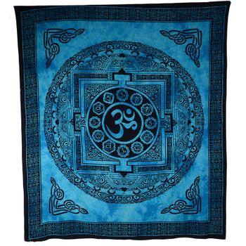 Kunst und Magie Wandbehang Om Mandala ca. 235 x 205 cm  – Bild 1