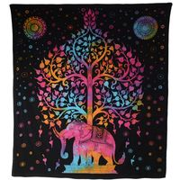 Kunst und Magie Wall hanging elephant and tree approx. 90.5 x 78.5 inch 001