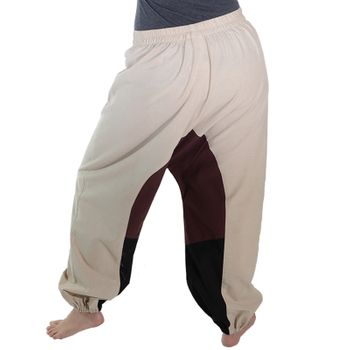 Kunst und Magie Women Goa Oriental harem Pants with buttons made of natural material – Bild 4