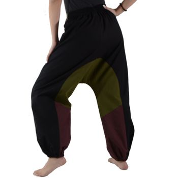 Kunst und Magie Women Goa Oriental harem Pants with buttons made of natural material – Bild 2