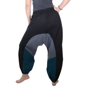 Kunst und Magie Women Goa Oriental harem Pants with buttons made of natural material – Bild 8