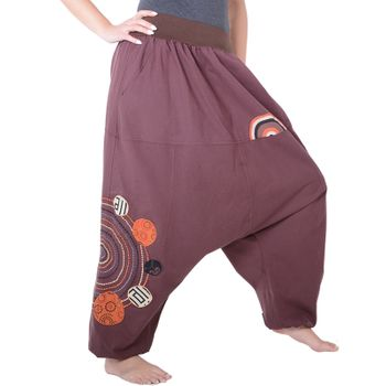 Kunst und Magie Women Harem Pants Cotton Goa wellness pants with embroidery – Bild 3