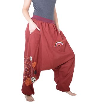 Kunst und Magie Women Harem Pants Cotton Goa wellness pants with embroidery – Bild 8