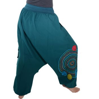 Kunst und Magie Women Harem Pants Cotton Goa wellness pants with embroidery – Bild 7