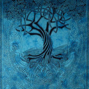 Kunst und Magie Wandbehang Keltischer Baum ca. 230 x 205 cm  – Bild 4