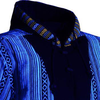 Kunst und Magie Herren Sweatshirt Poncho mit Fleecefutter und Kapuze UV Aktiv – Bild 13