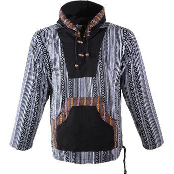 Kunst und Magie Herren Sweatshirt Poncho mit Fleecefutter und Kapuze UV Aktiv – Bild 1