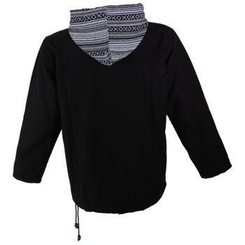 Kunst und Magie Herren Sweatshirt Poncho mit Fleecefutter und Kapuze UV Aktiv – Bild 6
