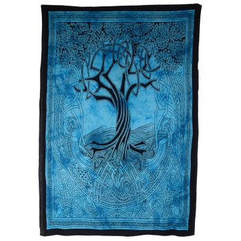 """Kunst und Magie Wall hanging """" CelticTree of Life""""  100 % cotton approx. 78.5 x 53 inch – Bild 1"""