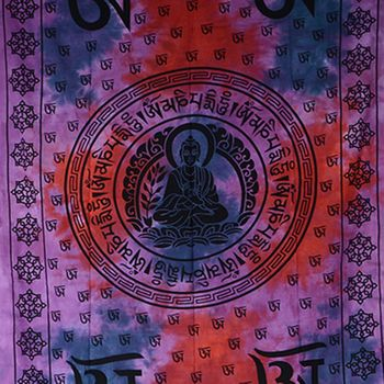 Kunst und Magie Wall Hanging The Mandala Buddha  79 x 53 inches – Bild 6