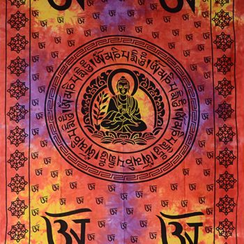 Kunst und Magie Wall Hanging The Mandala Buddha  79 x 53 inches – Bild 2