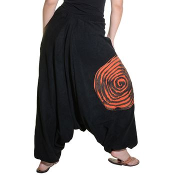 Kunst und Magie Women's Fleece Pants with Spirale Symbol Psy Goa Harem Pants  – Bild 8
