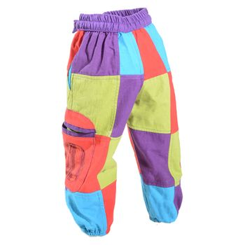 Kunst und Magie Colorful Unique Patschwork Kids Pants Hippie Goa – Bild 2