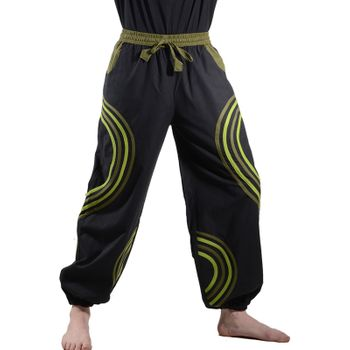 Kunst und Magie Unisex pants with Goa curved lines