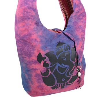 Kunst und Magie shoulder bag with colorful psy patterns – Bild 11