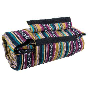 Kunst und Magie Handgewebte Familien Picknickdecke mit Azteken Muster – Bild 10