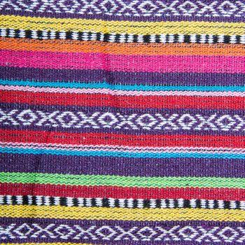 Kunst und Magie Handgewebte Familien Picknickdecke mit Azteken Muster – Bild 17