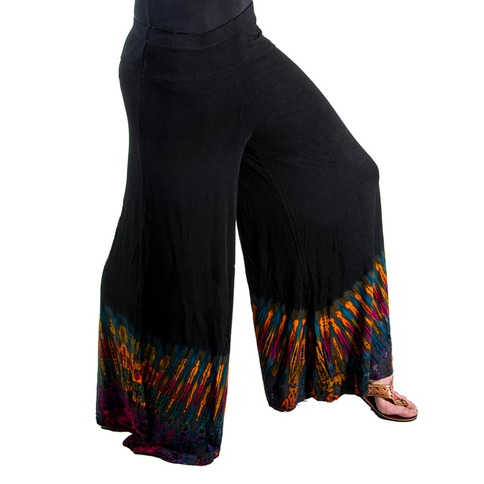 kunst und magie bunte damen tie dye batik hose hosenl nge 90 und 98cm. Black Bedroom Furniture Sets. Home Design Ideas