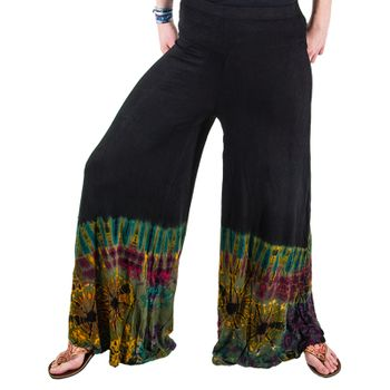Kunst und Magie 70s Pants Tie Dye Batik with  Long Legs