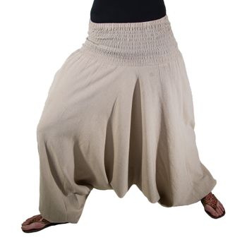 KUnst und Magie Harem Pants with Smocked Waistband Goa Hippie - Wellness Pants  – Bild 1