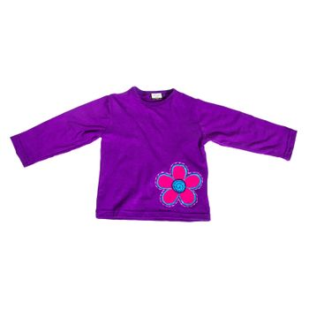 "Colorful Kids-Shirt with Patchwork Embroidered ""Giraffe"" Hippie Goa – Bild 5"