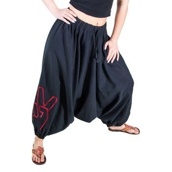 Kunst und Magie Lady Cotton Harem Pants with Victory Symbol