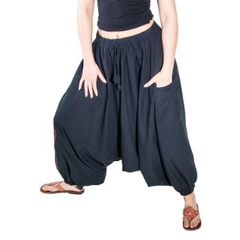 Kunst und Magie Lady Cotton Harem Pants with Victory Symbol – Bild 2
