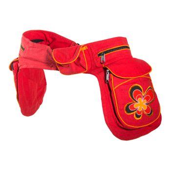 Kunst und Magie Double fanny pack Sidebag belt pouch pocket Festival Hippie Goa – Bild 20